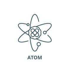 atom line icon atom outline sign concept vector image