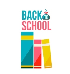 Back to school poster with row of books vector image