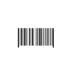 bar code icon black on white background vector image