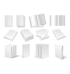 Blank book templates set vector