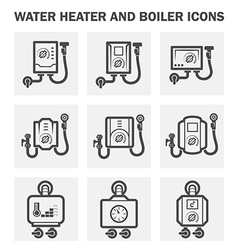 Boiler water icon vector
