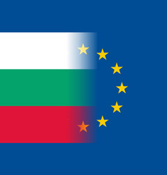 Bulgaria national flag with a circle of eu vector