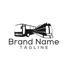 Bus and train logo template vector