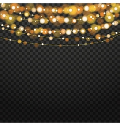 Christmas Lights Isolated Design Elements Vector