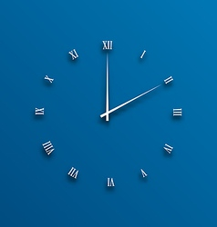 Clock dial numeral with shadows vector image