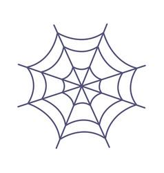 Cobweb icon trick or treat happy halloween vector