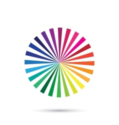 color palette color spectrum isolated on vector image