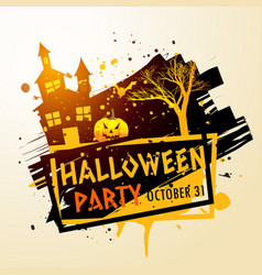 Creepy halloween party celebration background vector