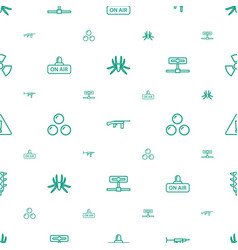 Danger icons pattern seamless white background vector