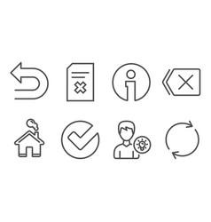 Delete file verify and remove icons person idea vector
