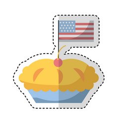delicious pie isolated icon vector image