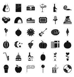 Disco icons set simple style vector