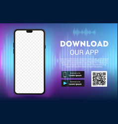 download page mobile app empty screen vector image