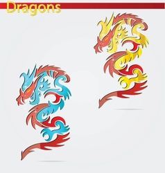 Elegance religion dragon vector