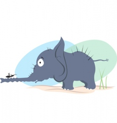 elephant and ant vector image