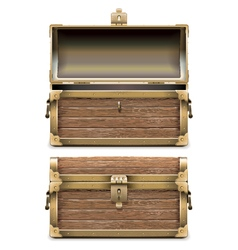 Empty Old Chest vector