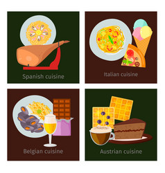 european food cuisine tasty dinner food vector image
