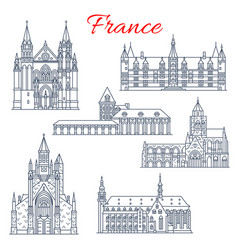 france nievre guerande architecture icons vector image