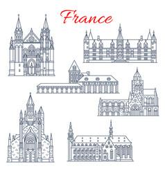France nievre guerande architecture icons vector