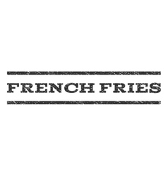 French Fries Watermark Stamp vector