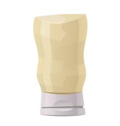 Glossy plastic bottle for white sauce dressing vector