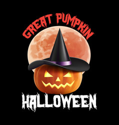 Great pumpkin halloween t-shirt design vector