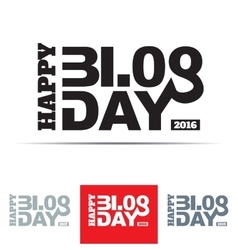 Happy Blog Day Sign vector image