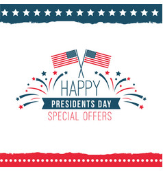 happy presidents day special offer poster vector image
