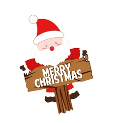 Happy Santa claus with sign vector