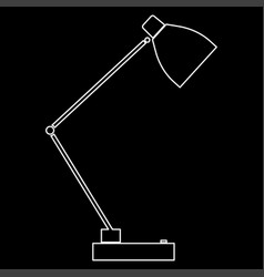 Lamp the white path icon vector