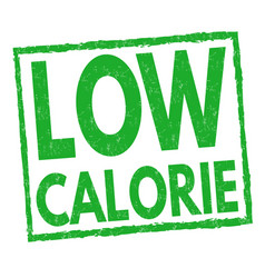 Low calorie sign or stamp vector