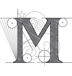 m vector image