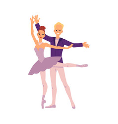 man and woman ballet dancers characters flat vector image