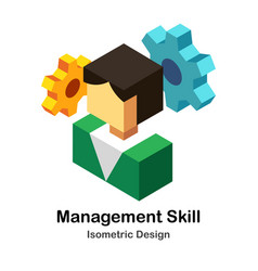 Management skills isometric vector
