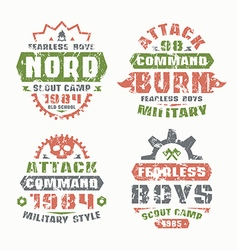 Military and scout badges vector
