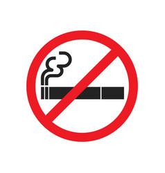 no smoking sign symbol vector image