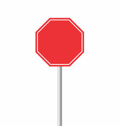 octagonal traffic sign vector image