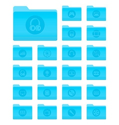 OS X Folders with Multimedia Icons vector