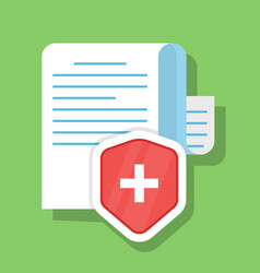 paper document is securely protected the concept vector image