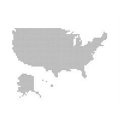 Pixel map of united state of america dotted map vector