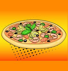 Pop art background imitation comic style italian vector