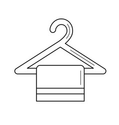 Rack with towel line icon vector