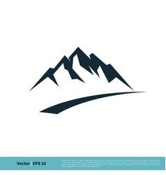 rock mountain icon logo template design eps 10 vector image