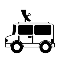 Satellite car isolated icon vector