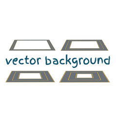 Set curved routes vector