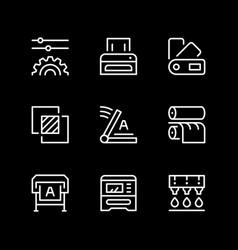 set line icons print vector image