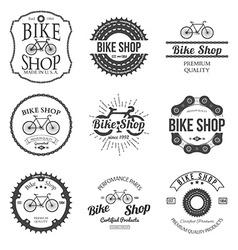 Set vintage and modern bicycle shop logo badges vector