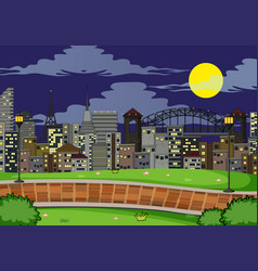 simple park scene at night vector image