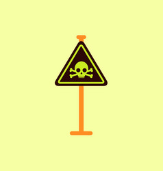 skull danger road sign vector image