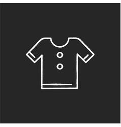 t shirt chalk white icon on black background vector image